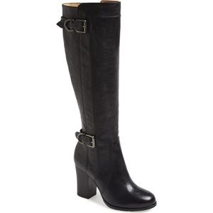 Frye Parker D Ring Tall Leather Boot Black 7